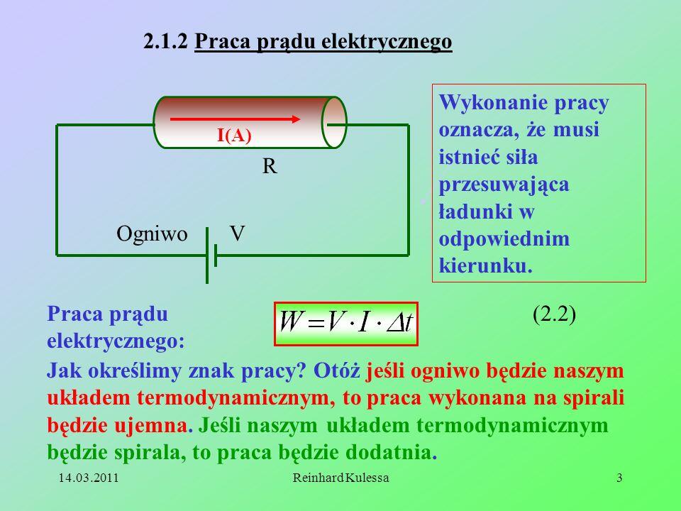 2.1.2 Praca prądu elektrycznego