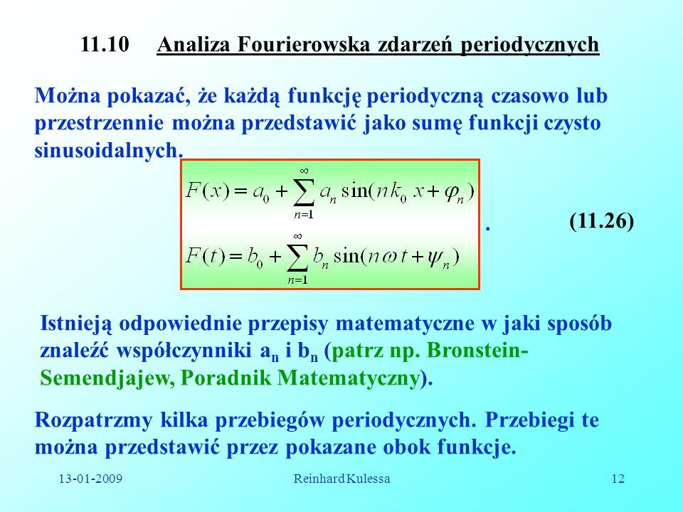 11.10 Analiza Fourierowska zdarzeń periodycznych