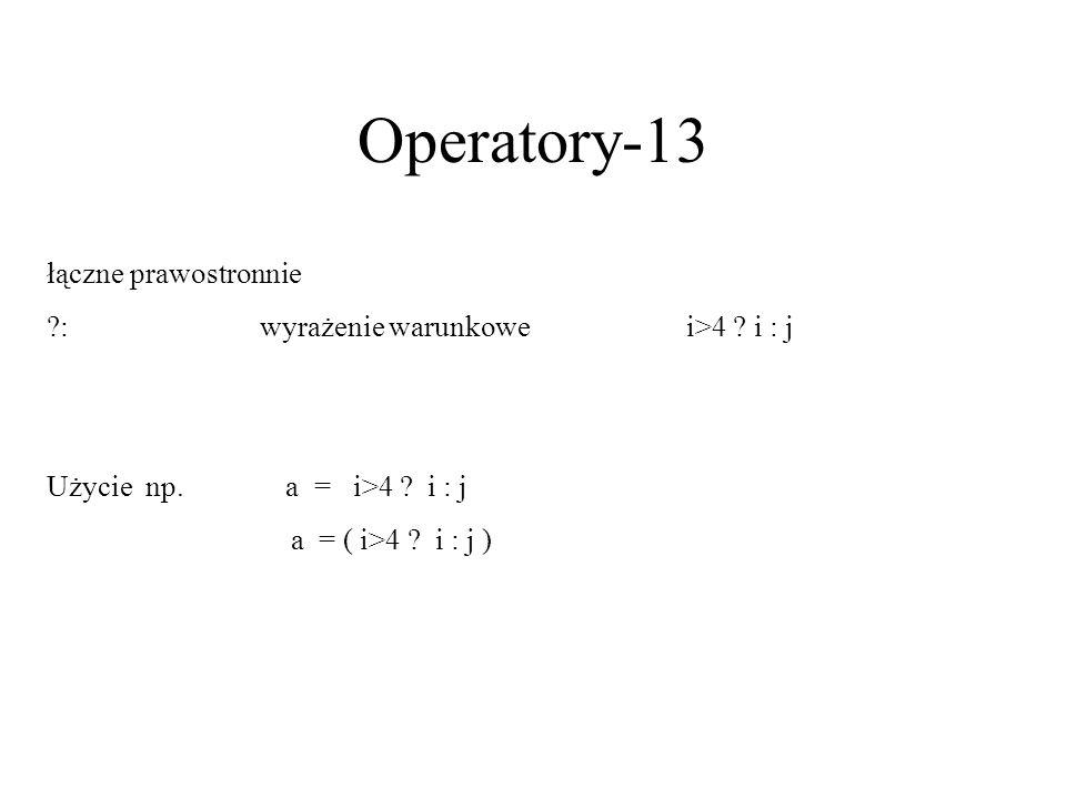 Operatory-13 łączne prawostronnie
