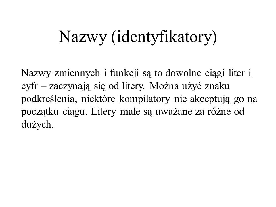Nazwy (identyfikatory)