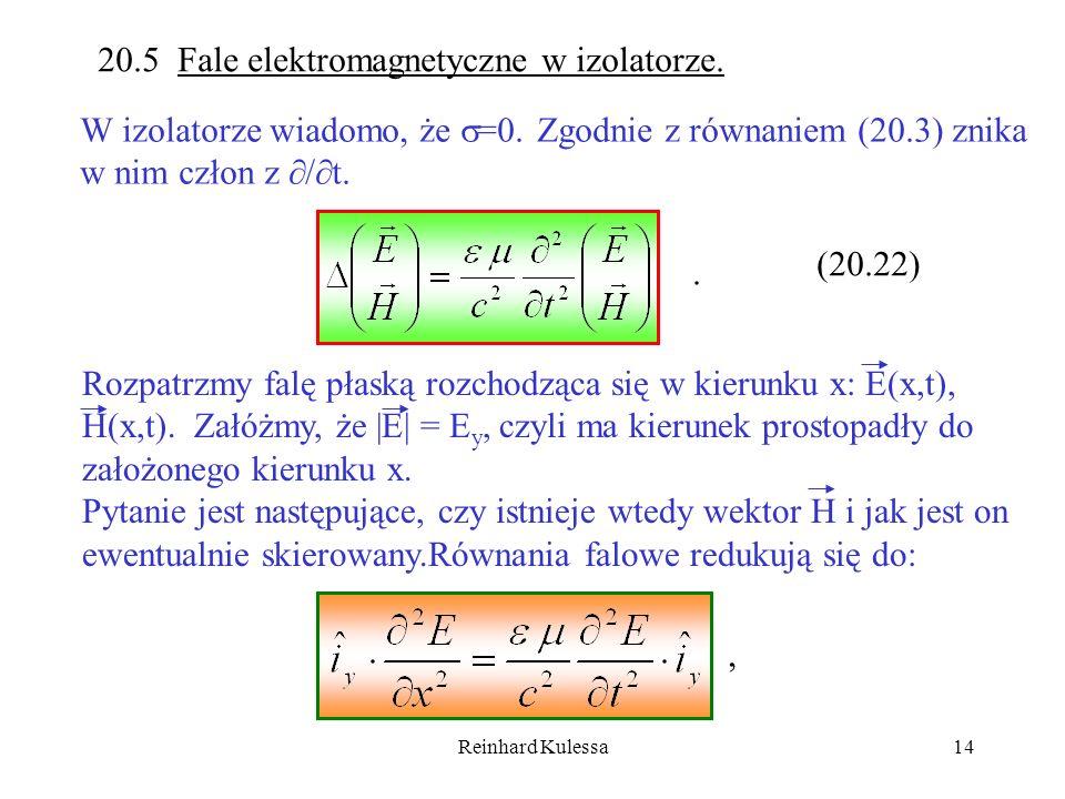 20.5 Fale elektromagnetyczne w izolatorze.