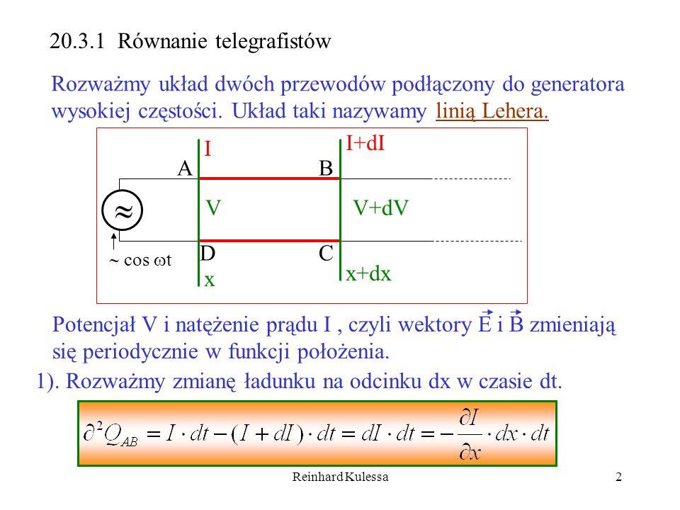  20.3.1 Równanie telegrafistów