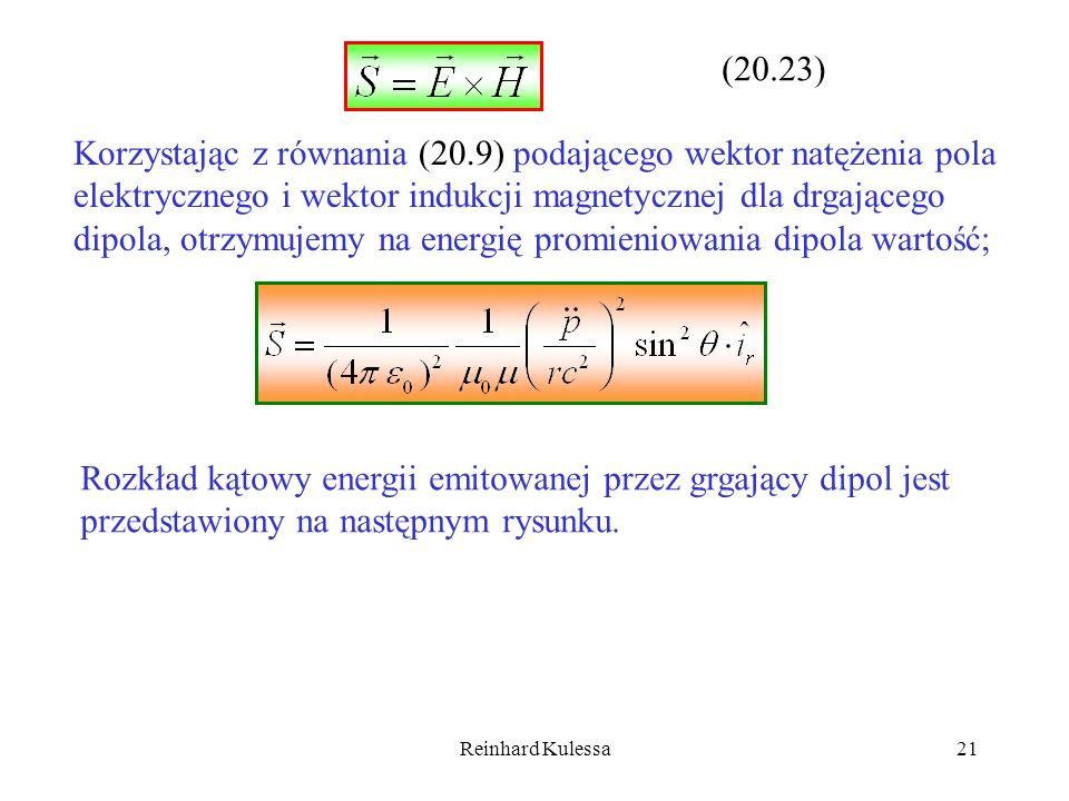 Korzystając z równania (20.9) podającego wektor natężenia pola