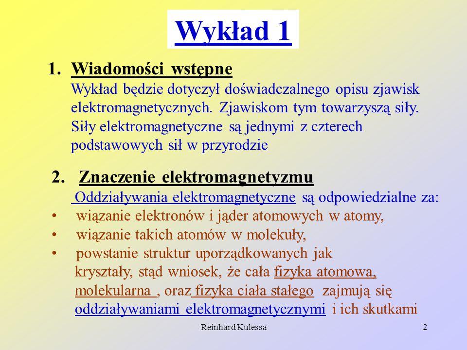 Wykład 1 Wiadomości wstępne 2. Znaczenie elektromagnetyzmu