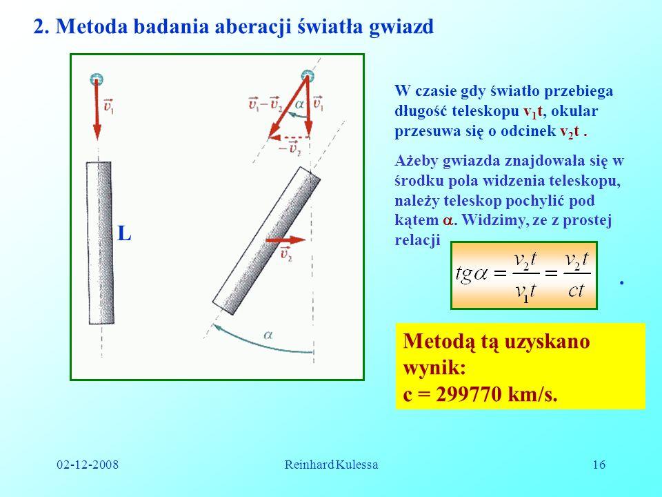 2. Metoda badania aberacji światła gwiazd