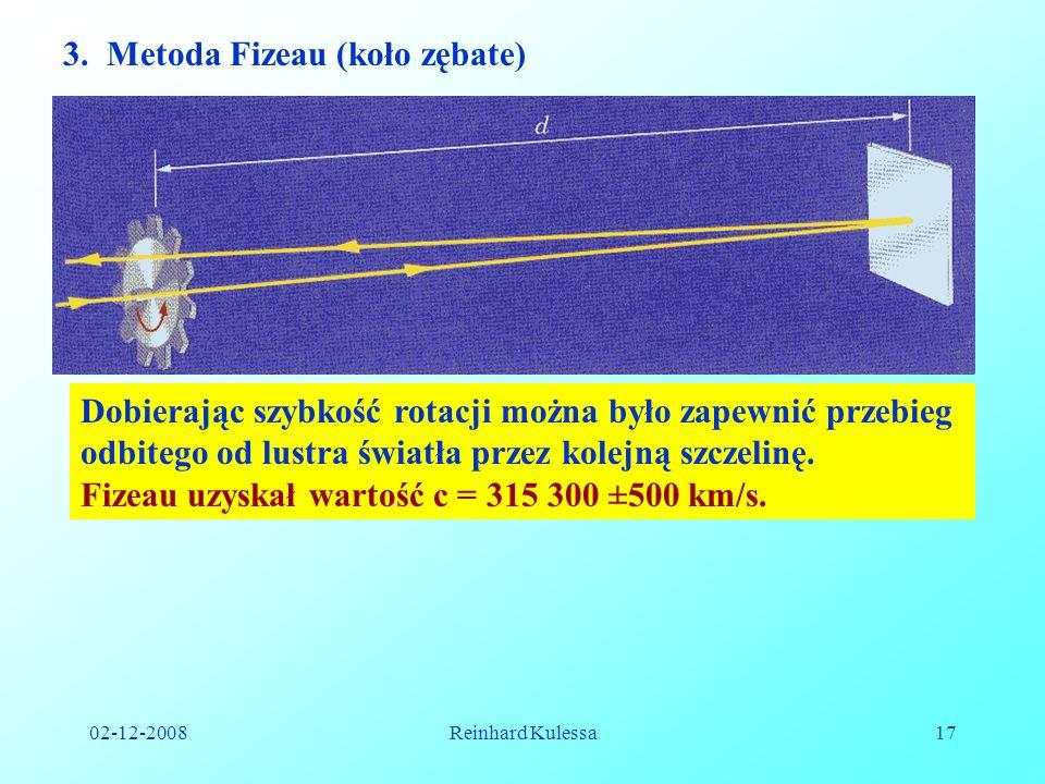 3. Metoda Fizeau (koło zębate)
