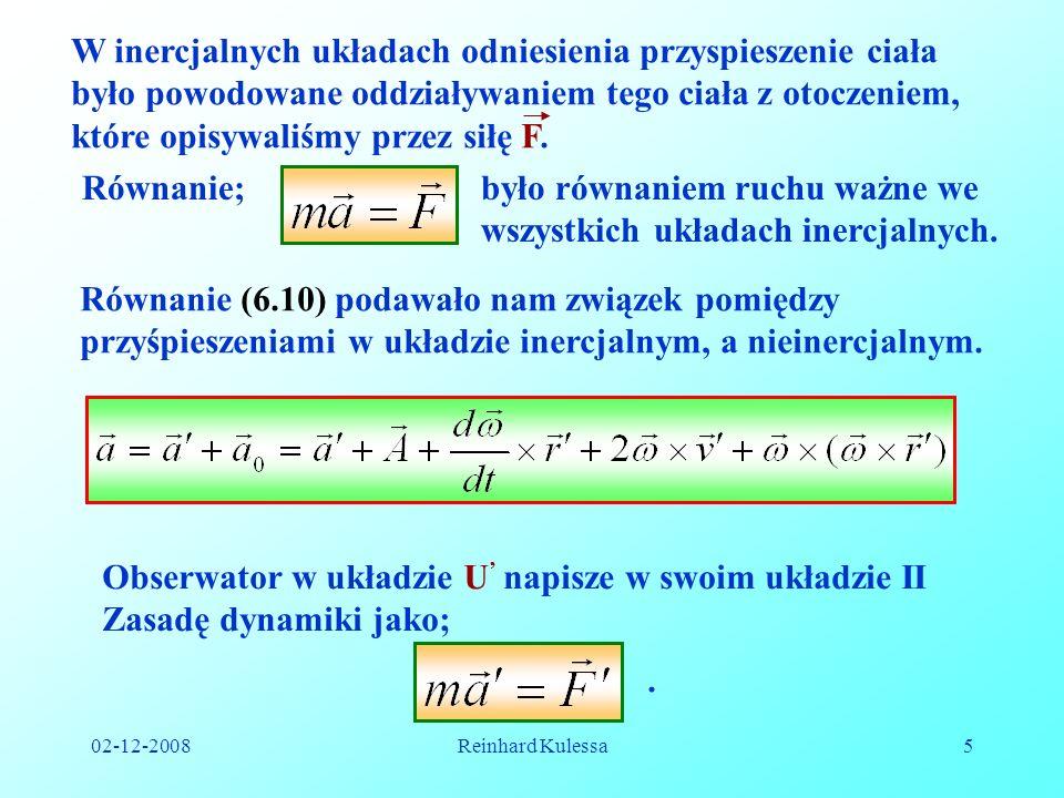 było równaniem ruchu ważne we wszystkich układach inercjalnych.