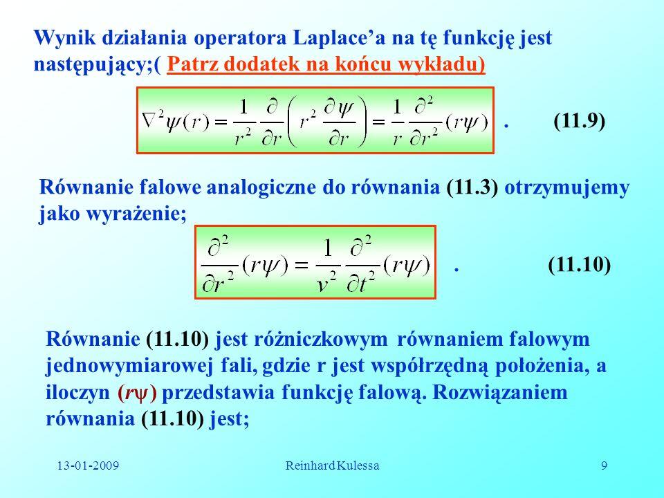 Równanie falowe analogiczne do równania (11.3) otrzymujemy