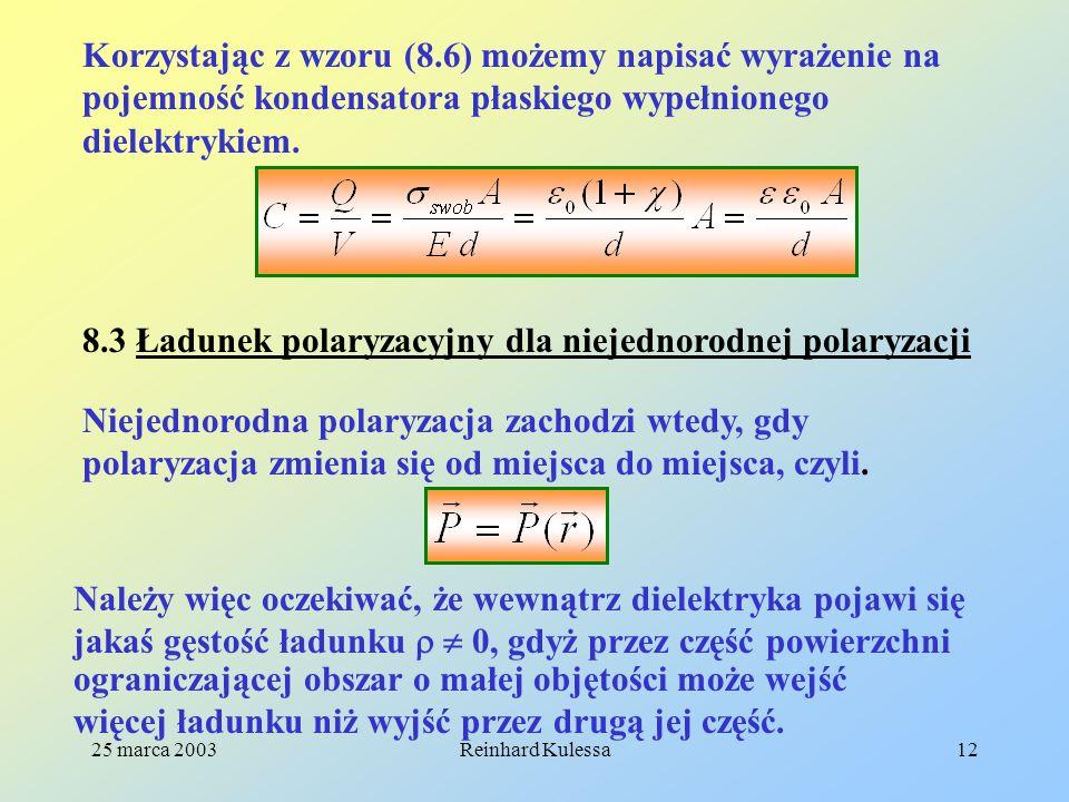 8.3 Ładunek polaryzacyjny dla niejednorodnej polaryzacji