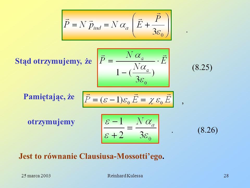 Jest to równanie Clausiusa-Mossotti'ego.