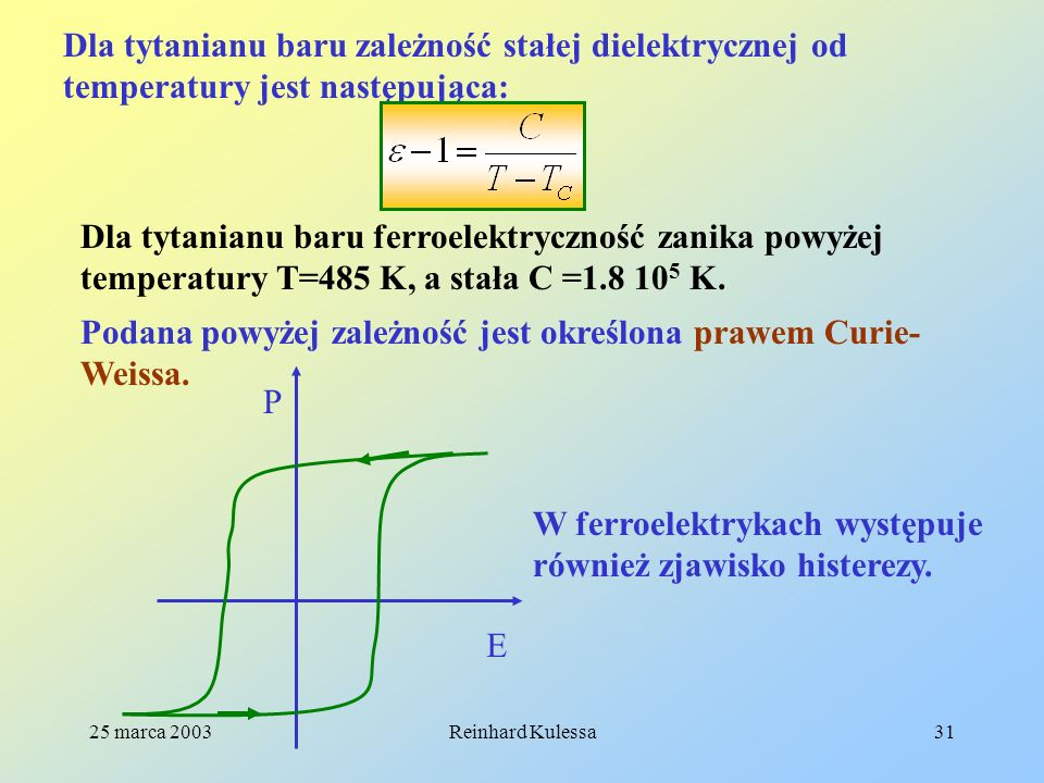 Podana powyżej zależność jest określona prawem Curie-Weissa.