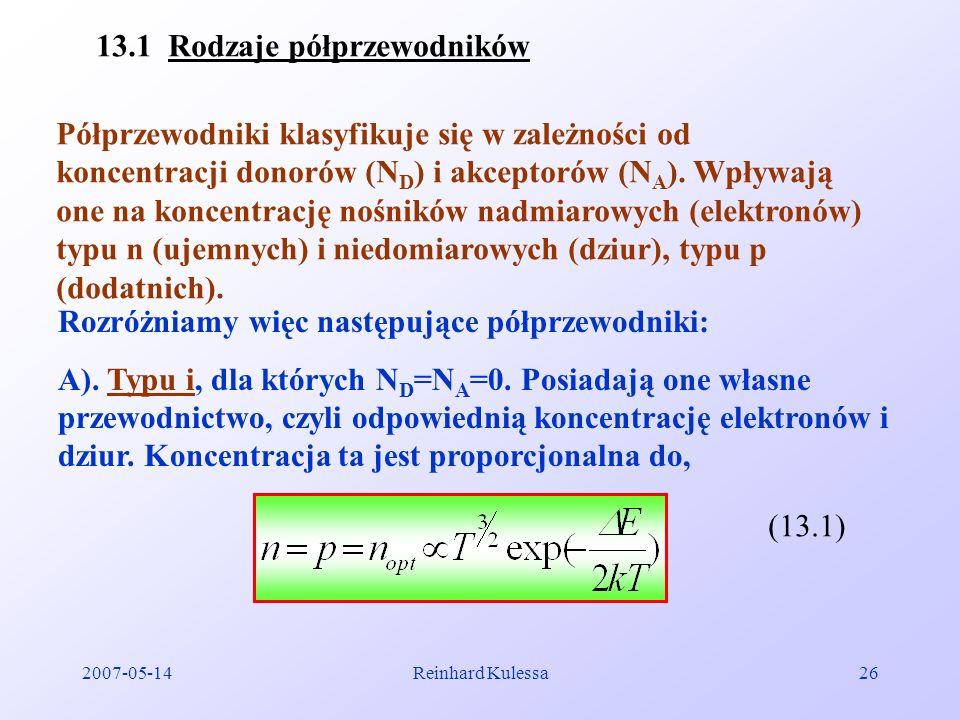13.1 Rodzaje półprzewodników