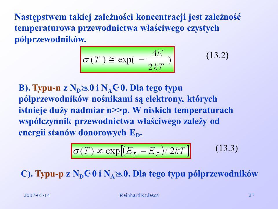 C). Typu-p z ND0 i NA0. Dla tego typu półprzewodników