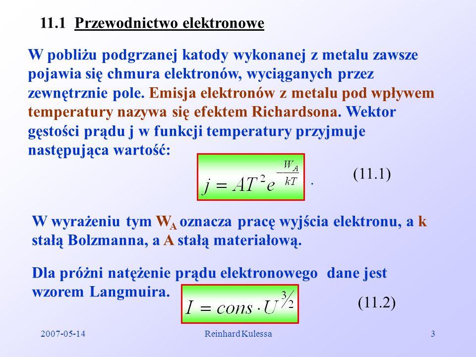 11.1 Przewodnictwo elektronowe