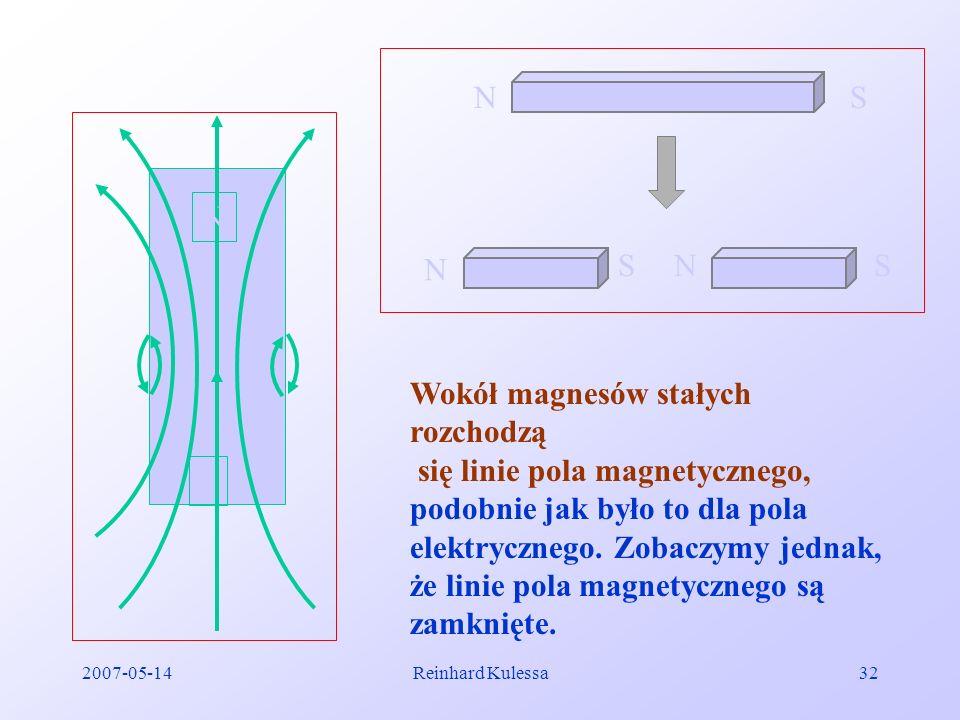 Wokół magnesów stałych rozchodzą się linie pola magnetycznego,