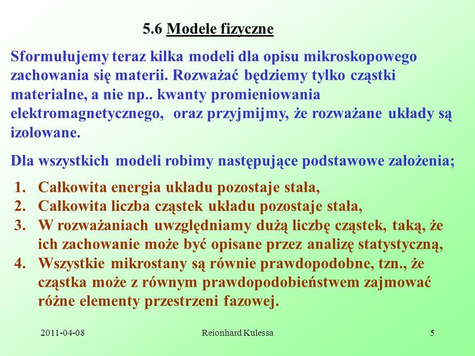 Dla wszystkich modeli robimy następujące podstawowe założenia;