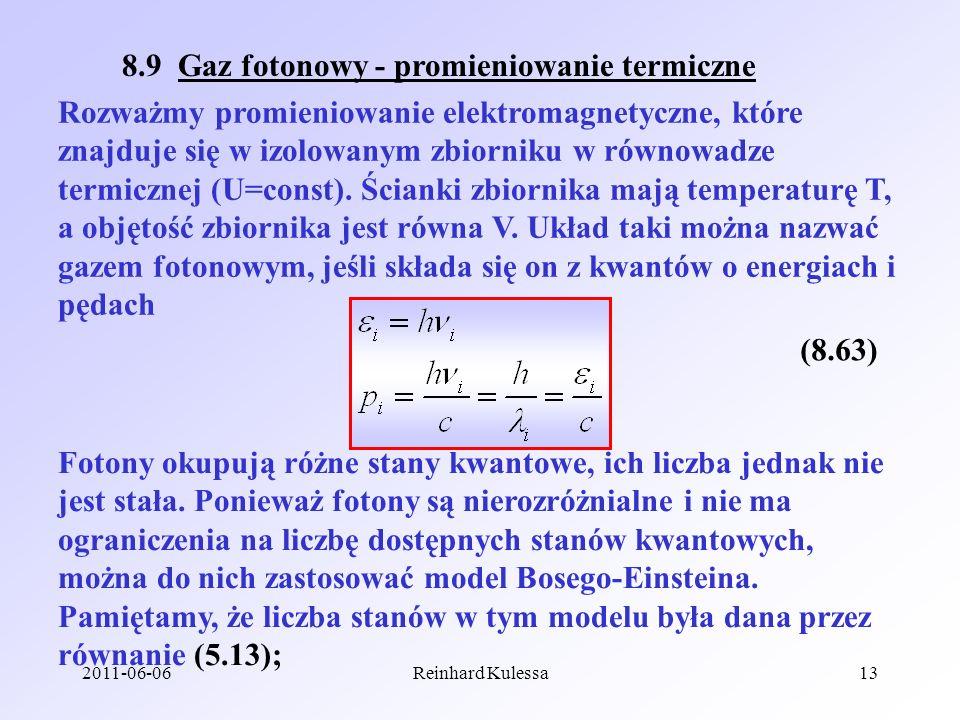 8.9 Gaz fotonowy - promieniowanie termiczne