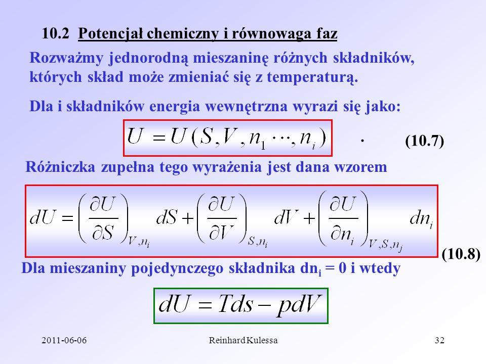 10.2 Potencjał chemiczny i równowaga faz