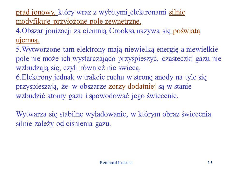 4.Obszar jonizacji za ciemnią Crooksa nazywa się poświatą ujemną.