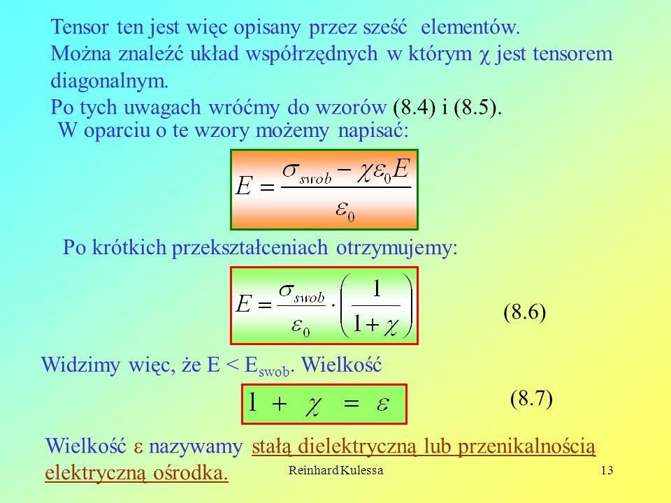 Tensor ten jest więc opisany przez sześć elementów.