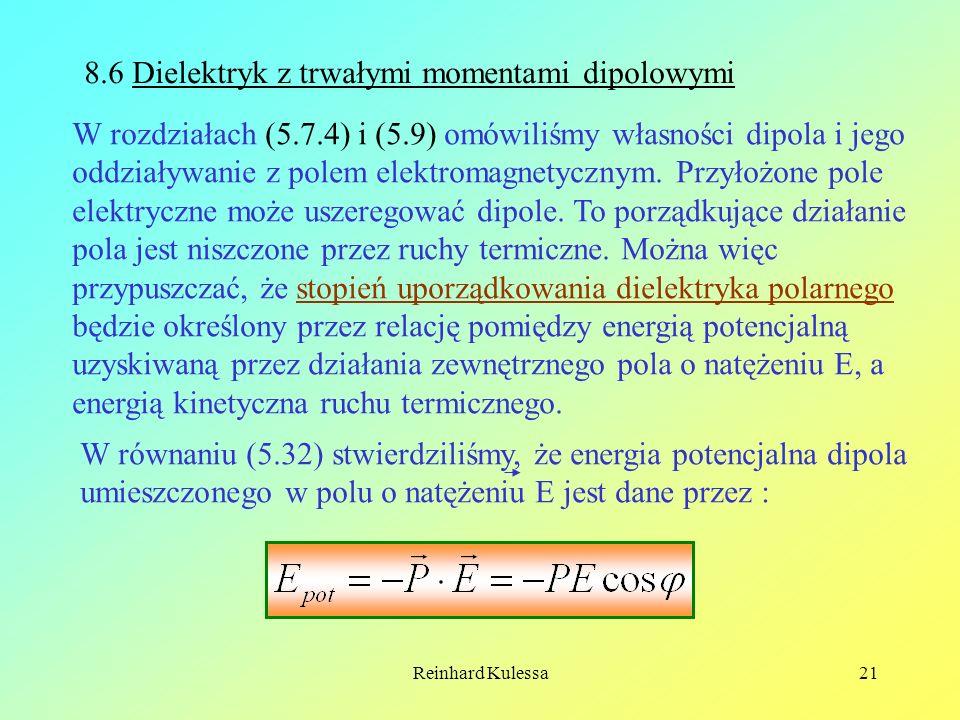 8.6 Dielektryk z trwałymi momentami dipolowymi