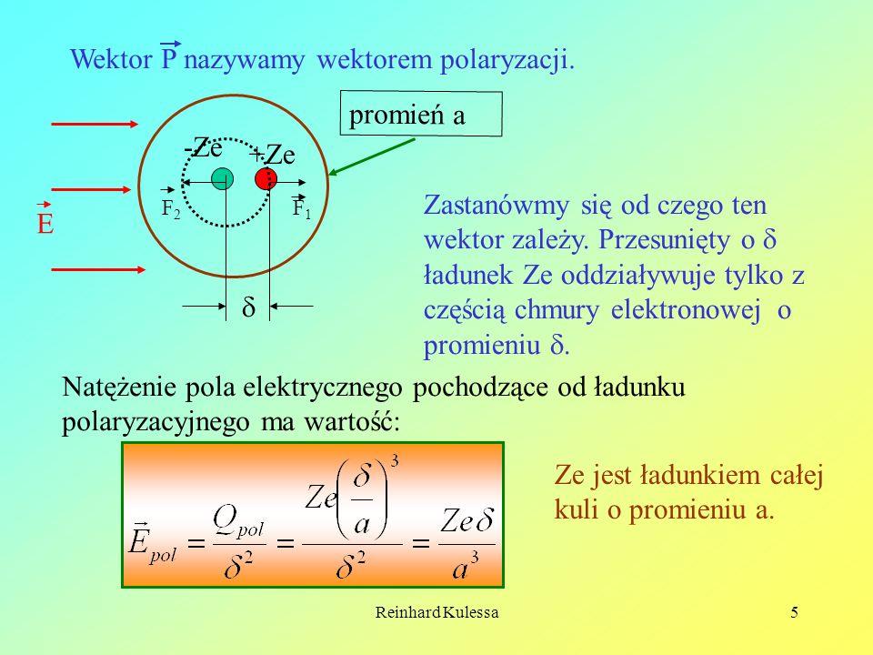 Wektor P nazywamy wektorem polaryzacji.