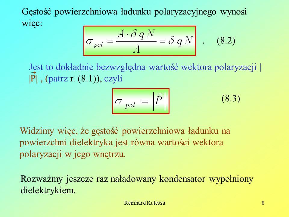Gęstość powierzchniowa ładunku polaryzacyjnego wynosi więc: