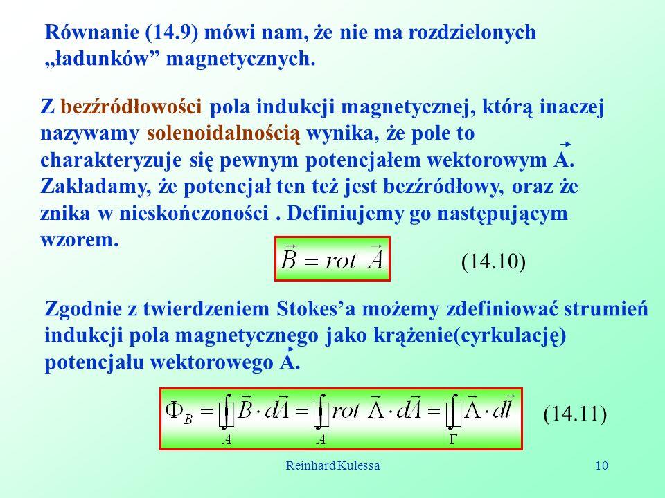 Zgodnie z twierdzeniem Stokes'a możemy zdefiniować strumień