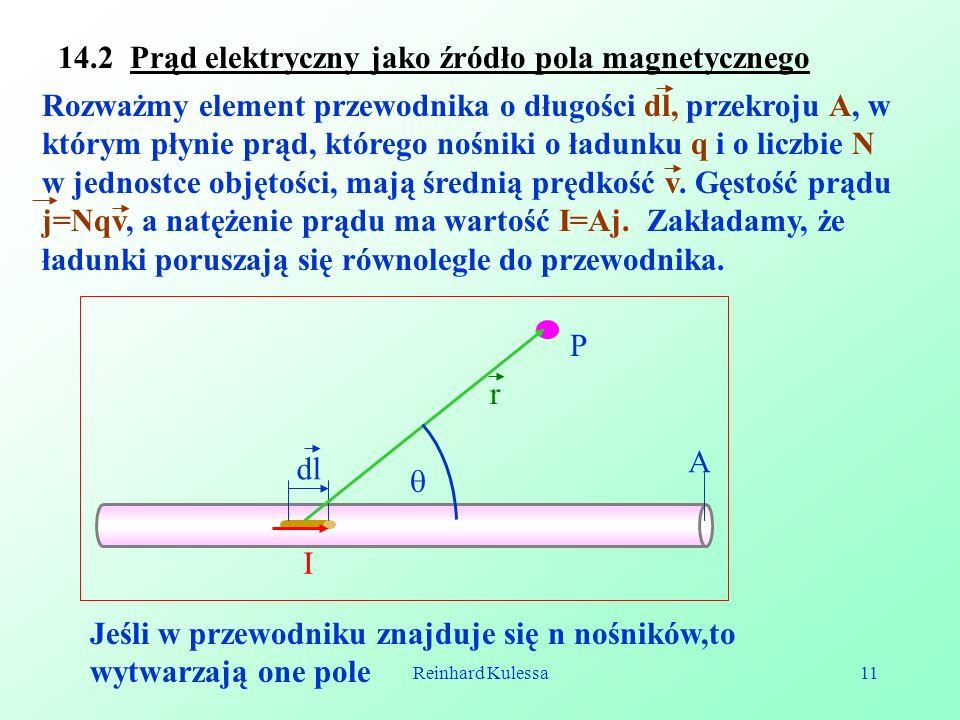 14.2 Prąd elektryczny jako źródło pola magnetycznego