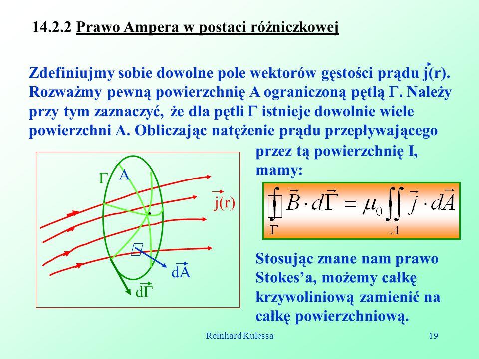 14.2.2 Prawo Ampera w postaci różniczkowej