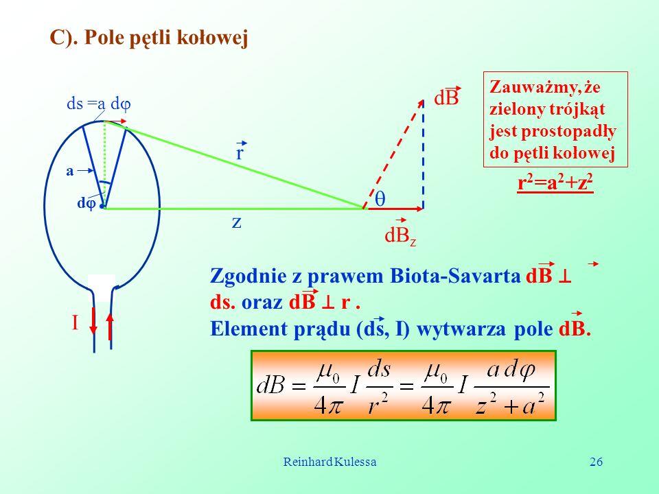 Zgodnie z prawem Biota-Savarta dB ⊥ ds. oraz dB ⊥ r .