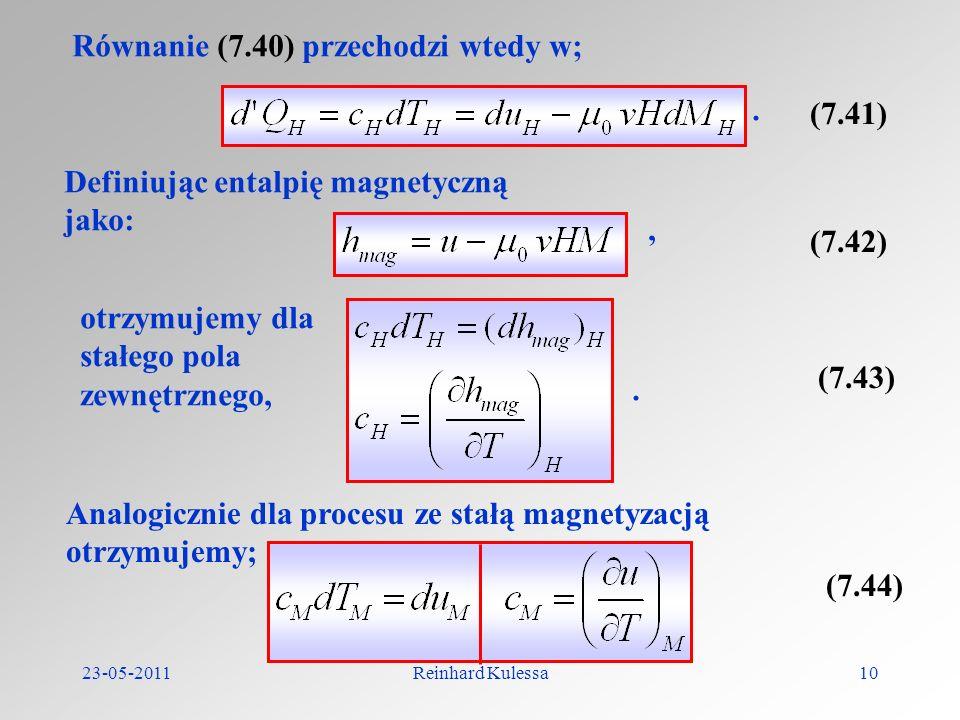 Równanie (7.40) przechodzi wtedy w;