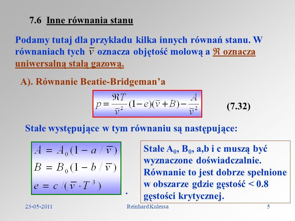 A). Równanie Beatie-Bridgeman'a