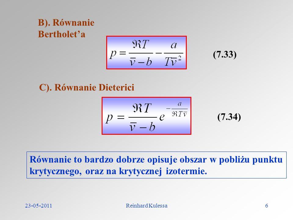 B). Równanie Bertholet'a