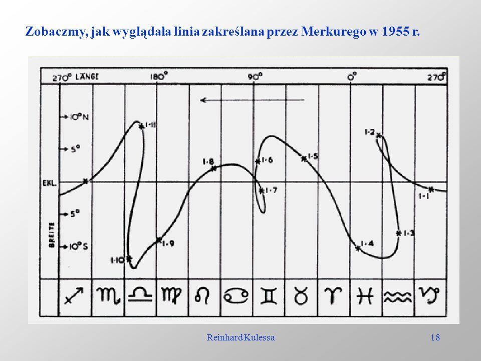 Zobaczmy, jak wyglądała linia zakreślana przez Merkurego w 1955 r.