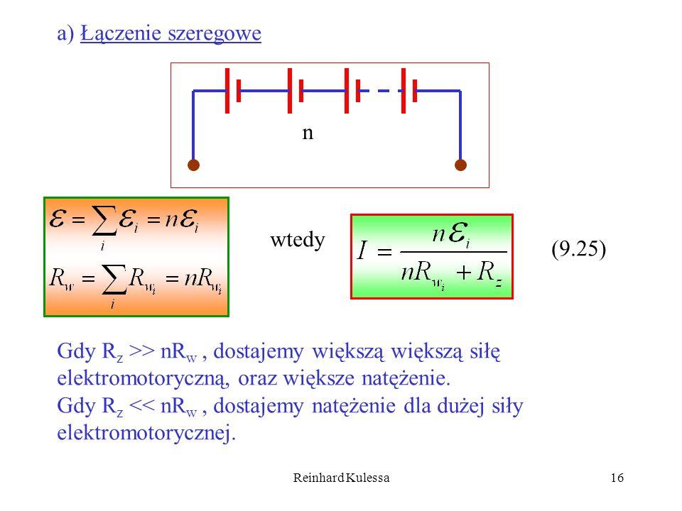 a) Łączenie szeregowe n wtedy (9.25)