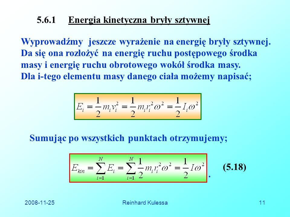 5.6.1 Energia kinetyczna bryły sztywnej