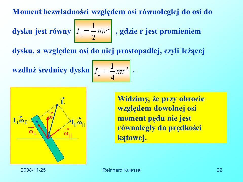 Moment bezwładności względem osi równoległej do osi do