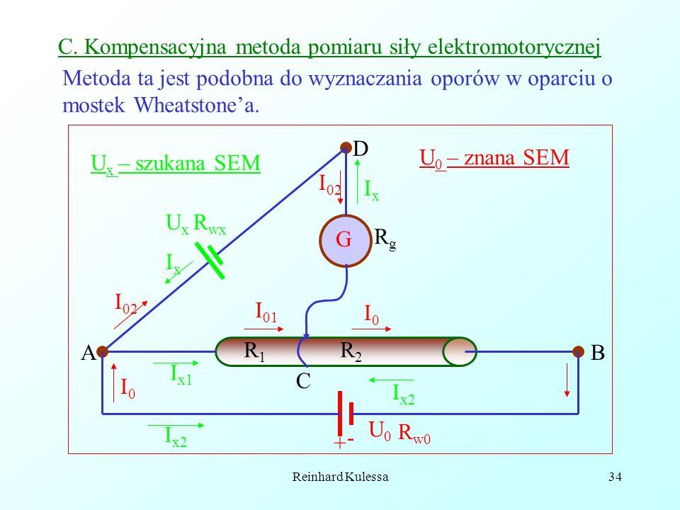 C. Kompensacyjna metoda pomiaru siły elektromotorycznej