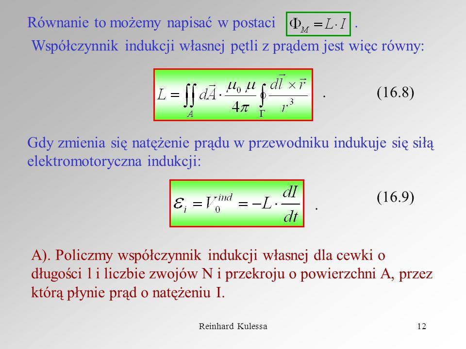 Równanie to możemy napisać w postaci .
