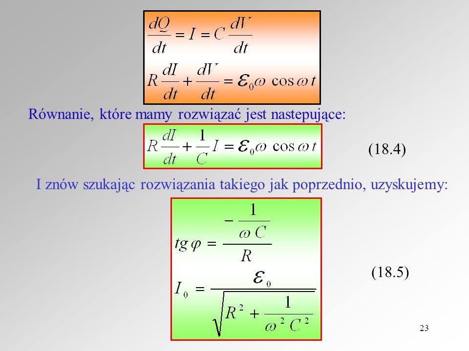 Równanie, które mamy rozwiązać jest nastepujące: