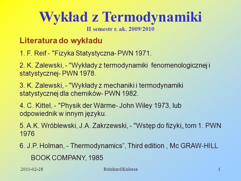 Wykład z Termodynamiki