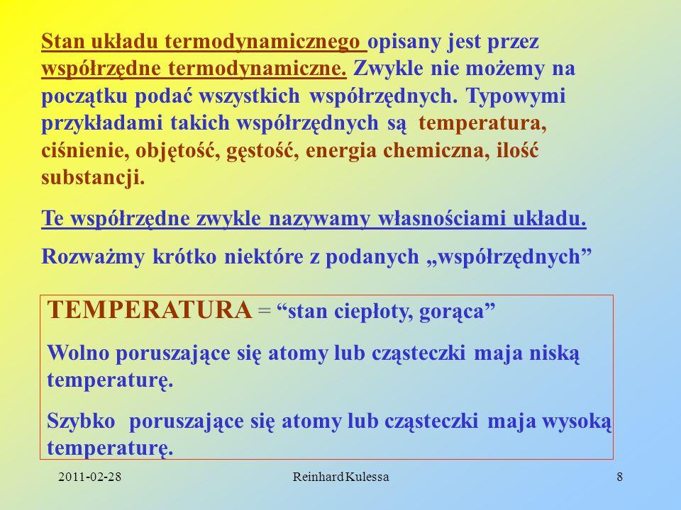 TEMPERATURA = stan ciepłoty, gorąca