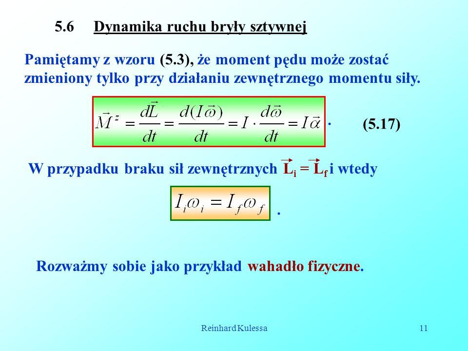 5.6 Dynamika ruchu bryły sztywnej