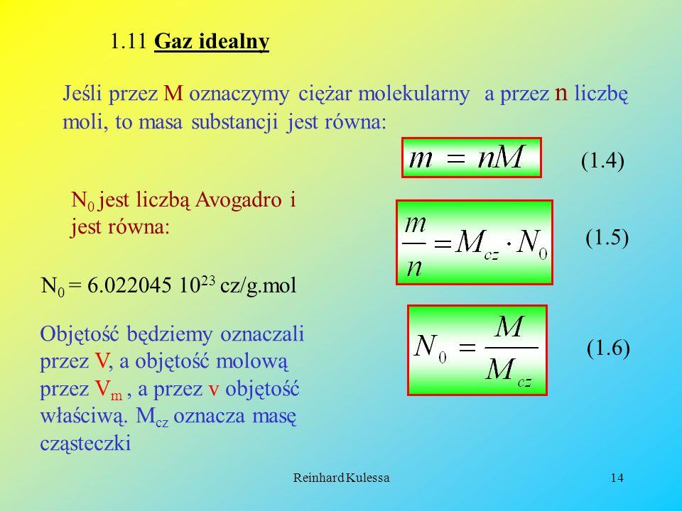 N0 jest liczbą Avogadro i jest równa: