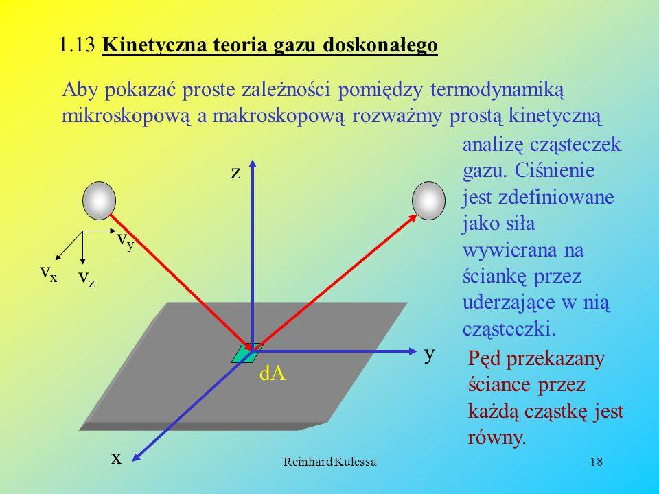 1.13 Kinetyczna teoria gazu doskonałego