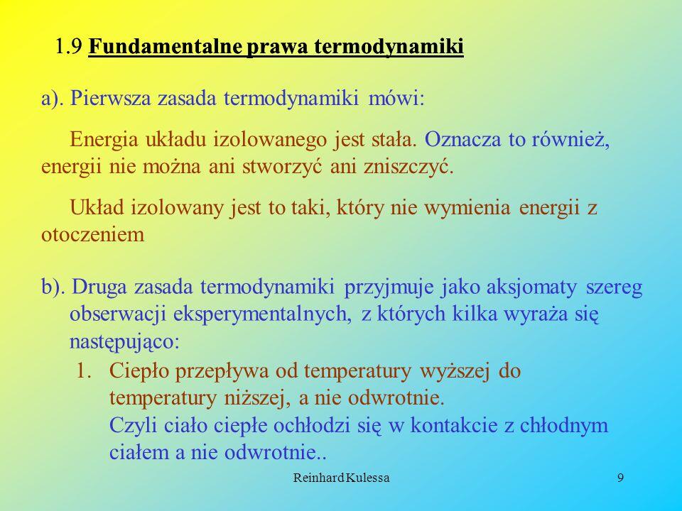 1.9 Fundamentalne prawa termodynamiki