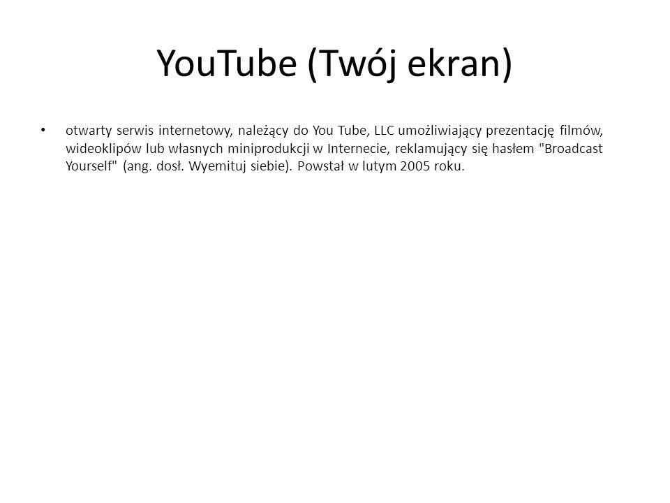YouTube (Twój ekran)