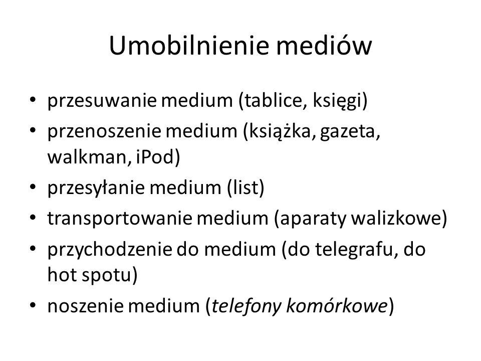Umobilnienie mediów przesuwanie medium (tablice, księgi)