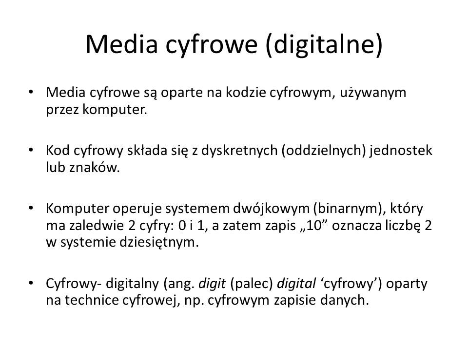 Media cyfrowe (digitalne)